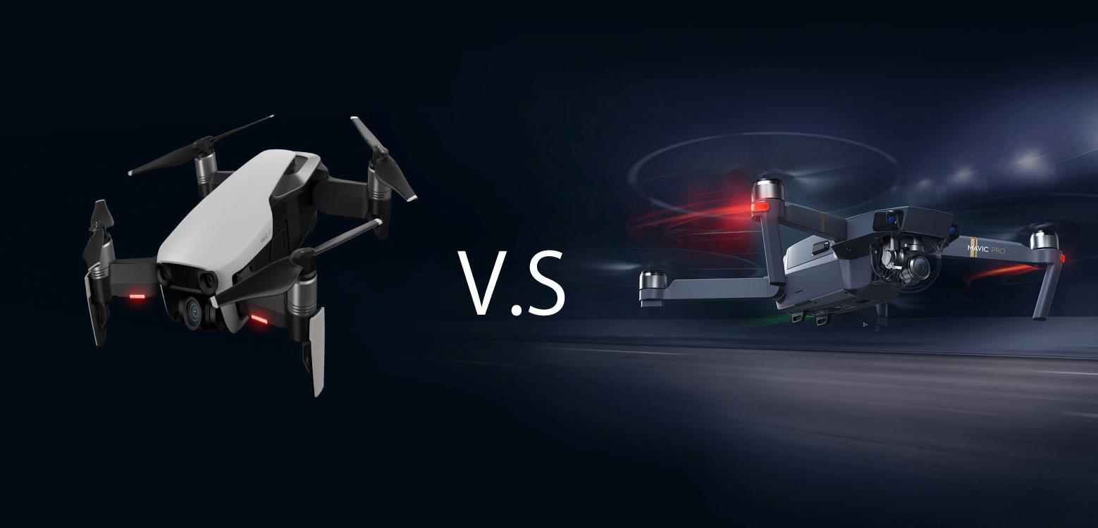 DJIのMavic ProとMavic Airの違いは?カメラや機体の性能など徹底比較!