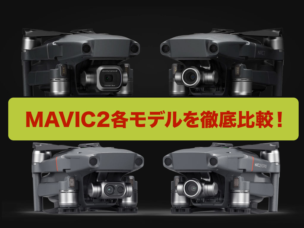 MAVIC 2 Pro、Zoom、ENTERPRISE、DUALそれぞれの違いは?4つのモデルを徹底比較!